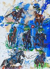"SUPERB ELIZABETH ARMSTRONG ORIGINAL ""AP McCoy - Proud Moments"" Horse PAINTING"