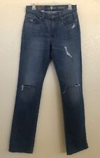 7 For All Mankind Women's Slimmy Destroy Denim Ankle Jeans  Size 28