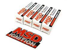 FREE EMBLEM - MSD IRIDIUM SPARK PLUGS FOR 89-99 NISSAN 240SX S13 S14 KA24DE