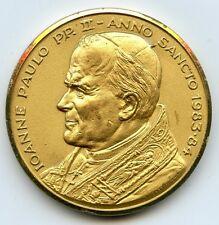 Pope John Paul II 1983 - 1984 Rare Medal - Jesus Human Redemption - AB357