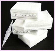 400 X Arte De Uñas Manicura Removedor De Esmalte Limpiador Limpia Pelusa cojines de algodón de papel