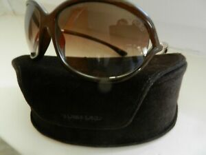 orig TOM FORD JENNIFER Sonnenbrille Couture Luxus Braun Gold Logo shades sunnies