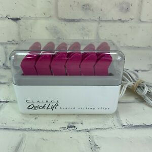 Clairol Quick Lift 12 Heated Styling Hair Clips Hot Roller Model L-12 Pageant