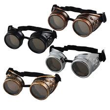 Vintage Victorian Steampunk Brille Gläser Schweißen Cyber Punk Gothic Cosplay 5E