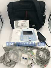 GE MAC 600 ECG Resting Machine MAC600 10 ECG Leads Bag Battery Charger Skintact