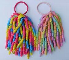 Rainbow Hair Bow Korker Streamer Ribbon Elastic Bobble Bright or Pastel