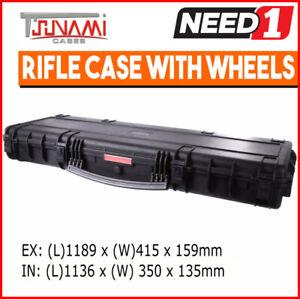 TSUNAMI Waterproof Hard Gun Roller Case   1189 (L) x 415 (W) x 159mm (D)