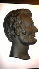 Antique Cast Metal President Lincoln Bust ~ Wall Plaque