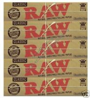 Raw King Size Classic Rolling Papers Hemp Kingsize Paper Set 5 Booklets