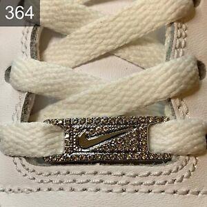 ✅Neue Nike Jordan 1 Schuh Schnallen Buckles Lace Locks Silber 1 Stück ✅