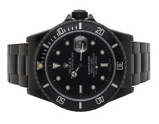 Mens Rolex 11610 Submariner 40MM Stainless Steel Black DLC PVD Coated Watch
