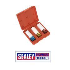 Sealey LLANTA DE ALEACIÓN Impacto Enchufe Set 3 piezas 1.3cmsq DRIVE SX031