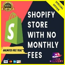 🔥Free Shopify Store With Unlimited Trial