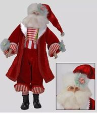 """Katherine's Collection Retired 20"""" Cuckoo Santa Doll 28-30159 NEW"""