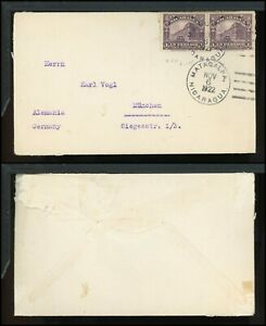 Nicaragua Postal History LOT #126 1922 2c MATAGALPA - MUNICH $$$