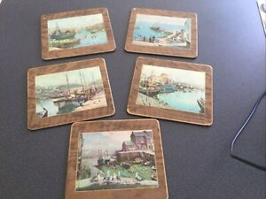 Vintage Vernon Ward 1950s 5 Table Place Mats Well Used May Clean Up