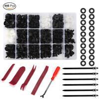 446 Pcs Set Auto Car Push Retainer Pin Rivet Trim Clip Panel Assortment Tool