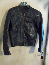 VINTAGE 70'S LEWIS LEATHERS AVIAKIT PHANTOM LEATHER MOTORCYCLE JACKET SIZE 40