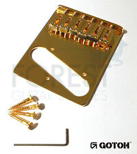GOTOH Guitar fixed Bridge Telecaster ® style GTC201, Brass saddle, Gold