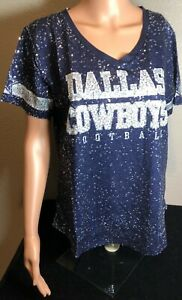 Authentic Dallas Cowboys Woman's Navy All Sequined Ensley Fashion Jersey/ NWT