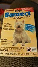New Sergeants Bansect Flea & Tick Control Treatment Medicine For Dog 7 to 33 Lbs