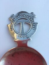 SOLID SILVER TEA CADDY SPOON VINTAGE CHAPTER OF AMITY 1946 3845 ANTIQUE