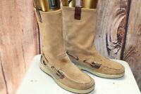 Sperry Tan Suede 6 M Women's Boat Boots