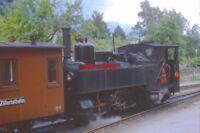 PHOTO  AUSTRIAN RAILWAYS - ZILLERTALBAHN 0-6-2T NO 2 A 76CM GAUGE LOCO GETS READ