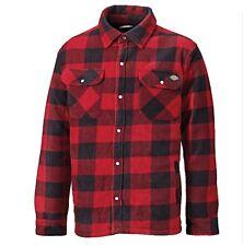 Dickies Portland Padded Fleece Lumberjack Checked Shirt Red Large Sh5000