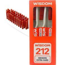 2X Wisdom 212 Smokers Extra Hard Brown Bristle Tooth Brush