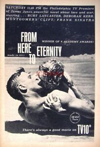 'From Here to Eternity' Film 1964 TV Showing Advert Print - Movie Ad to Frame