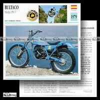 #032.02 BULTACO 350 T SHERPA 1979 70's Trial Fiche Moto Motorcycle Card