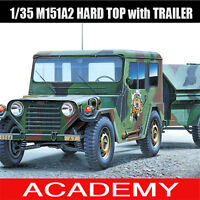 1/35 M151A2 HARD TOP with TRAILER #13012 ACADEMY HOBBY MODEL KITS