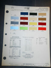 1976 OLDSMOBILE  DITZLER PPG COLOR CHIPS PAINT SAMPLES  88 98 CUTLASS TORONADO