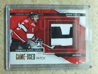 13-14 ITG H&P Heroes Prospects Game-Used Patch GOLD #SSM-09 AARON EKBLAD /5