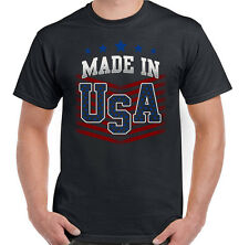 Made In The USA Mens American Flag T-Shirt Independence Day July 4th America US
