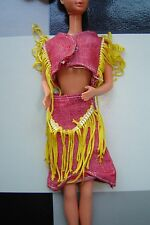 Vintage red yellow outfit that fits Barbie Sindy Fleur 70s