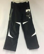 Spyder Kids Force Snow Ski Winter Pants Black White Size Boys 18 NEW