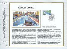 FEUILLET CEF / DOCUMENT PHILATELIQUE / CANAL DE L'OURCQ 1992 BONDY
