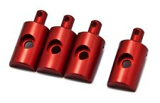 PrecisionGeek - Lunchbox Aluminium Finnish Body Mounts (4 Pcs) RED Fits Tamiya