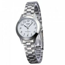 Casio LTP1128A-7B Ladies Stainless Steel Casual Dress Watch New White Dial