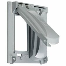 Hubbell-Bell MX2050S Two Gang Two Device Flat Metal Weatherproof Receptcle Cover