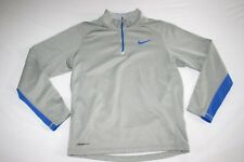 Nike Therma Fit 1/2 Zip Mock Sweat Shirt Cold Gear Men S Gray NEW