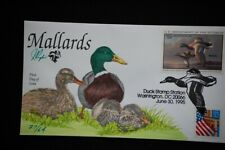 Migratory Bird Hunting Stamp FDC Handpainted by Pugh Issued 6/30/1995 Duck