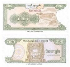 Cambogia 200 riels 1992 UNC banconote P-37