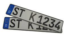 2 KFZ EU Kennzeichen Autokennzeichen Nummernschild