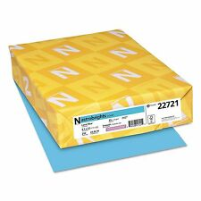 Neenah Astrobrights Colored Card Stock, 65 lb, 8 1/2 x 11, Lunar Blue,250 Sheets