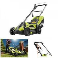 Electric Lawn Mower Ryobi Corded Walk Behind Push Grass Cutter Outdoor Yard Care