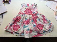 Baby girl summer dress 18-23 months St Bernard for Dunnes flower pattern pink