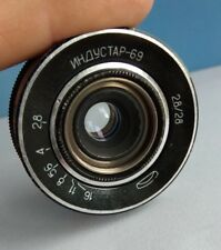 INDUSTAR-69 M39 mount 2.8/28mm MACRO Wide Angle Pancake Lens USSR
